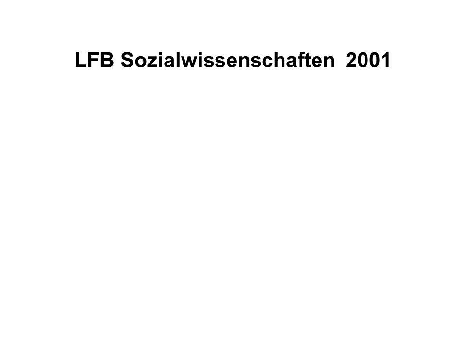 LFB Sozialwissenschaften 2001