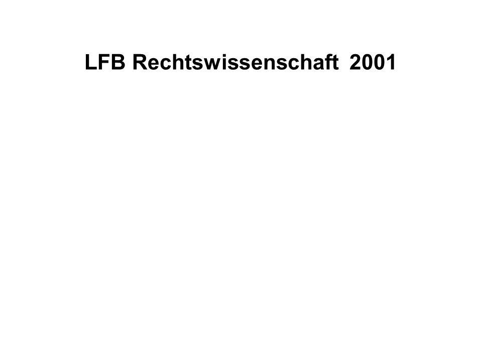 LFB Rechtswissenschaft 2001
