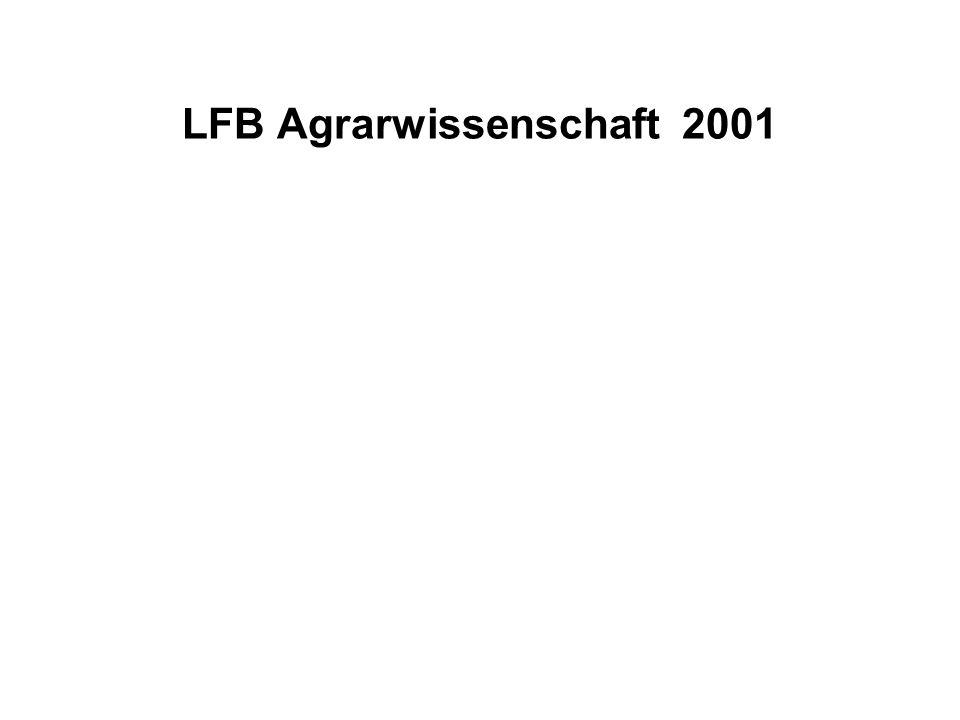 LFB Agrarwissenschaft 2001