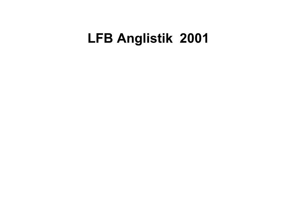 LFB Anglistik 2001