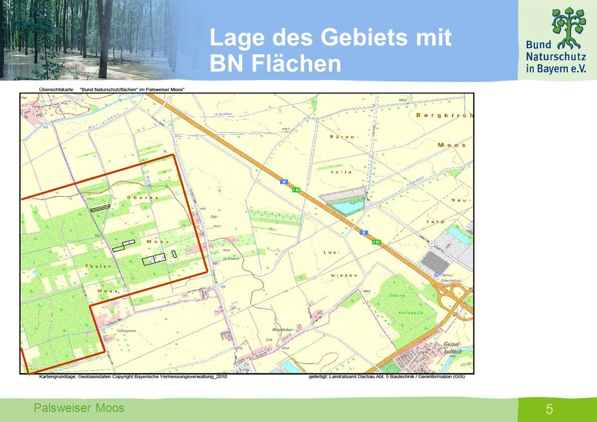 Palsweiser Moos 5 Lage des Gebiets mit BN Flächen