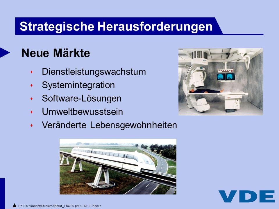 Dok: c:\vde\ppt\Studium&Beruf_110700.ppt 4 - Dr.T.