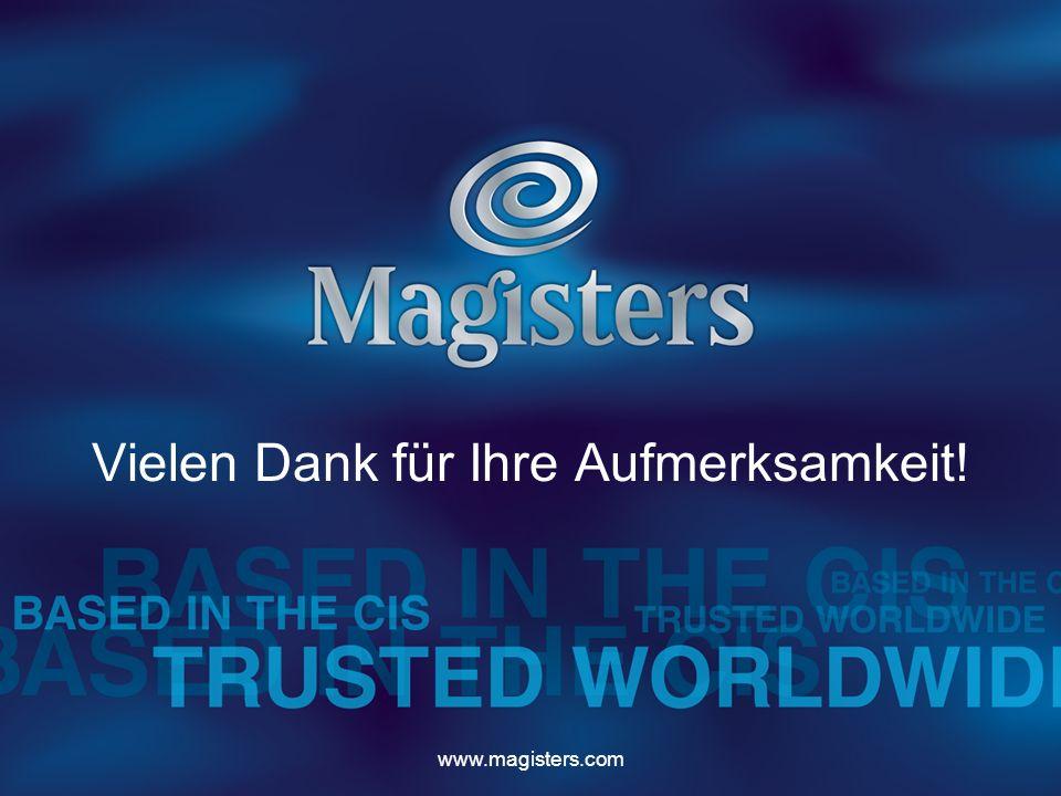www.magisters.com Vielen Dank für Ihre Aufmerksamkeit!