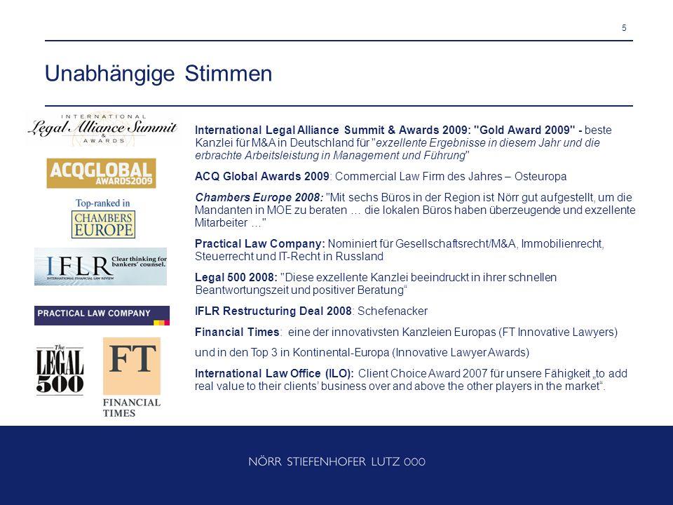 5 Unabhängige Stimmen International Legal Alliance Summit & Awards 2009: