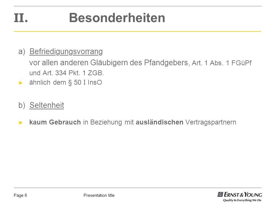 Presentation titlePage 6 II.