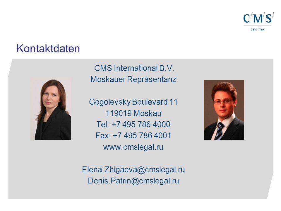 CMS International B.V.
