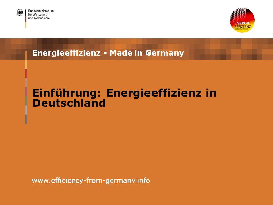 4 Energieeffizienz in Deutschland – Erfahrungen der letzten Jahrzehnte (1) Der Energieverbrauch ist in Deutschland strukturell bedingt hoch, weil Deutschland hochindustrialisiert ist Deutschland eine hohe Bevölkerungsdichte besitzt Die Verfügbarkeit fossiler Energieträger ist begrenzt/die Förderung teuer => Energie war schon immer eine vergleichsweise knappe/teure Ressource => die Ölkrisen in den 70er Jahren sorgten für eine hohe Sensibilität bei der Bewertung des Energiethemas Seit Mitte der 1970er Jahre wurden regulative Maßnahmen zur Bestimmung von Energieeffizienzstandards implementiert Dies wurde nicht durch eine einheitliche Gesetzesvorgabe, sondern in einer Vielzahl von einzelnen Energiesparkonzepten umgesetzt.