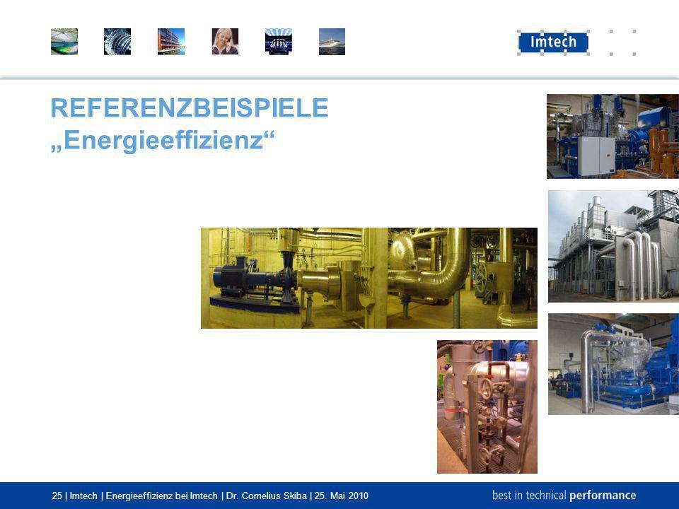 25 | Imtech | Energieeffizienz bei Imtech | Dr. Cornelius Skiba | 25. Mai 2010 REFERENZBEISPIELE Energieeffizienz