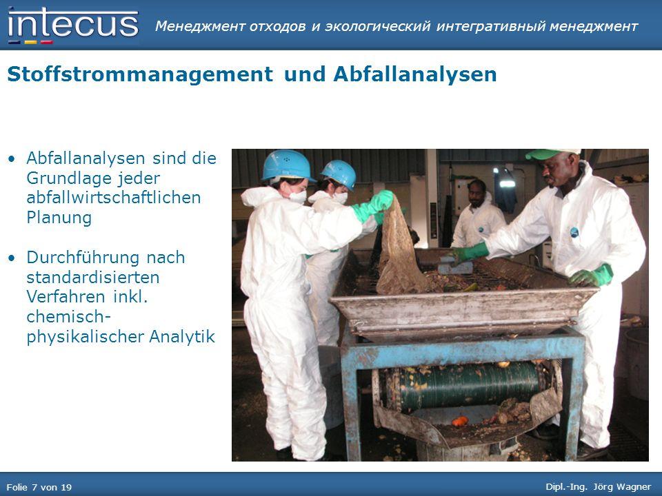 Менеджмент отходов и экологический интегративный менеджмент Folie 18 von 19 Dipl.-Ing.
