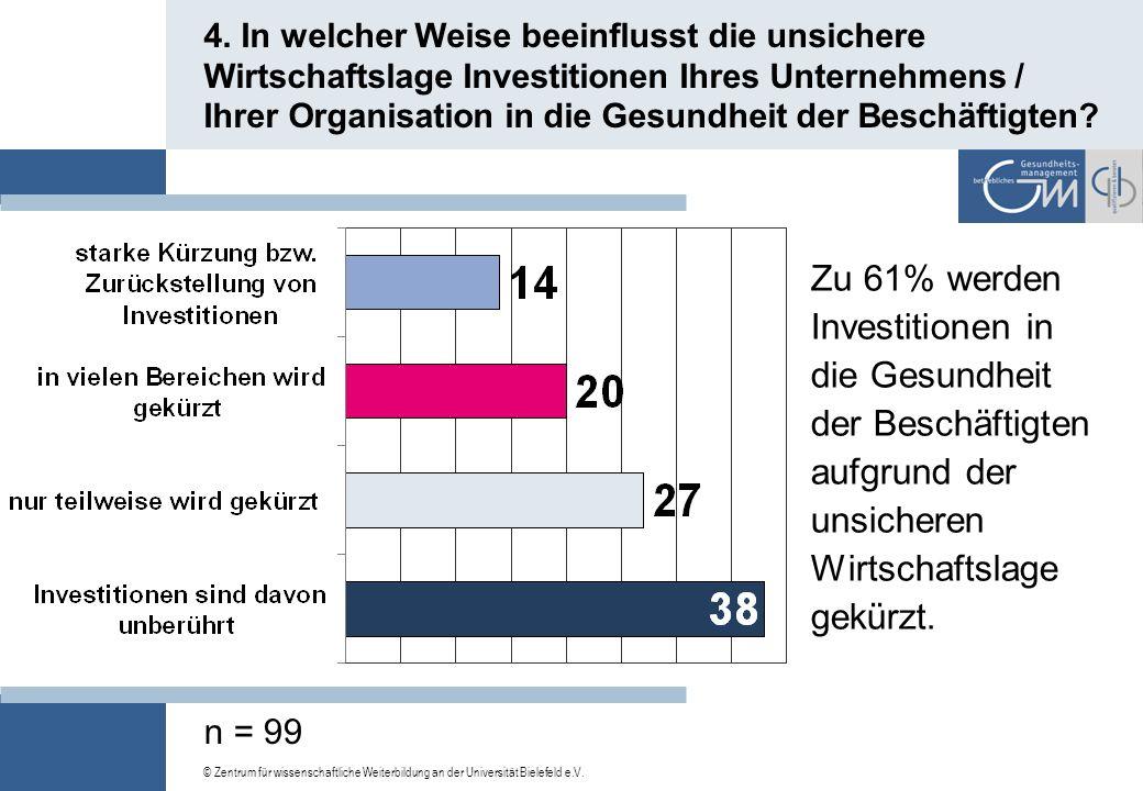 © Zentrum für wissenschaftliche Weiterbildung an der Universität Bielefeld e.V. 3. Befasst sich Ihr Unternehmen / Ihre Organisation bereits mit dem Th