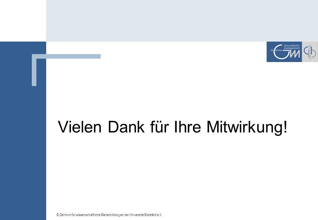 © Zentrum für wissenschaftliche Weiterbildung an der Universität Bielefeld e.V. 4. In welcher Weise beeinflusst die unsichere Wirtschaftslage Investit