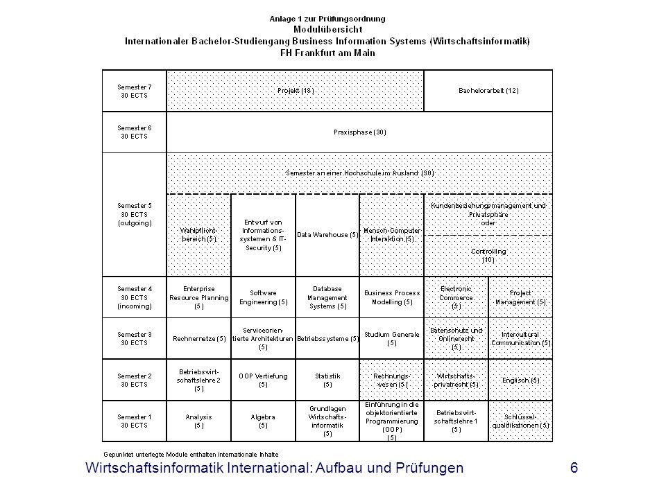 Wirtschaftsinformatik International: Aufbau und Prüfungen6