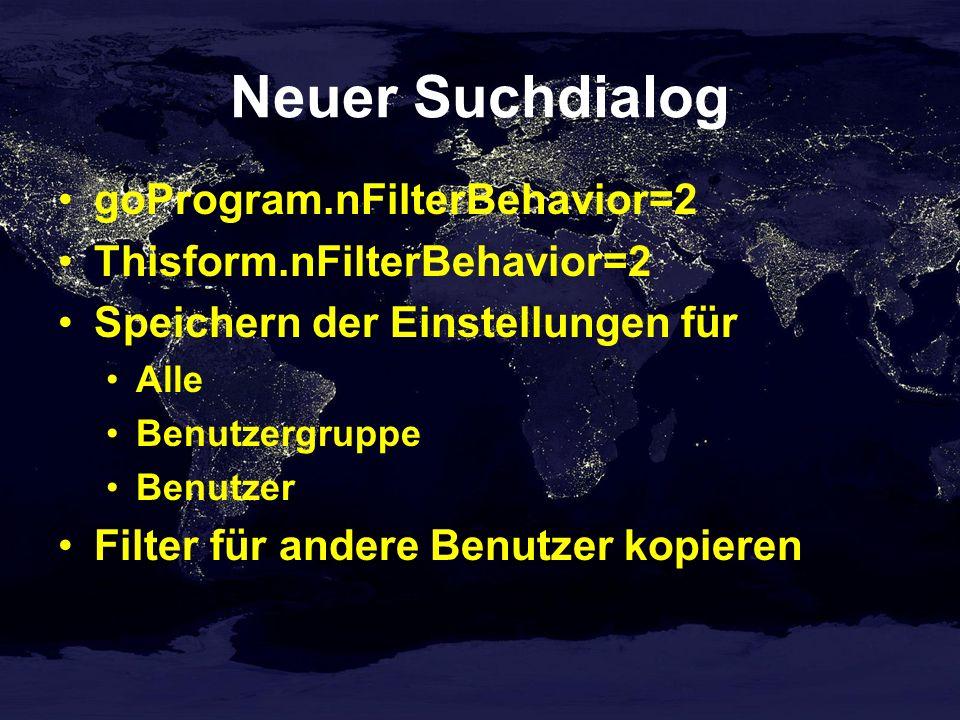 Suchdialog Neuer Operator: enthält nicht Kalender bei Typ Datum Filter in Vfxres oder Vfxfilter speichern