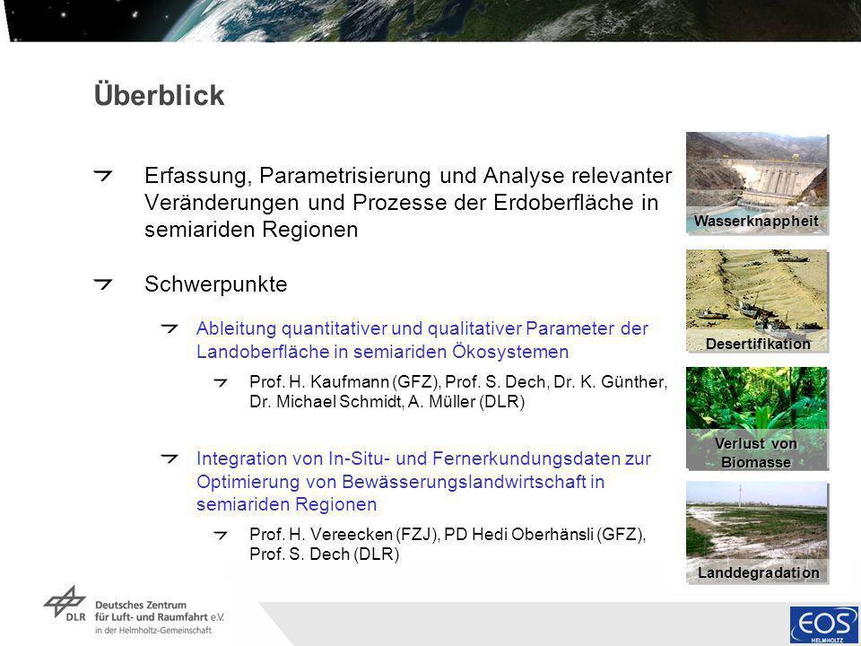Institut für Methodik der Fernerkundung bzw. Deutsches Fernerkundungsdatenzentrum Folie 2 Überblick Erfassung, Parametrisierung und Analyse relevanter