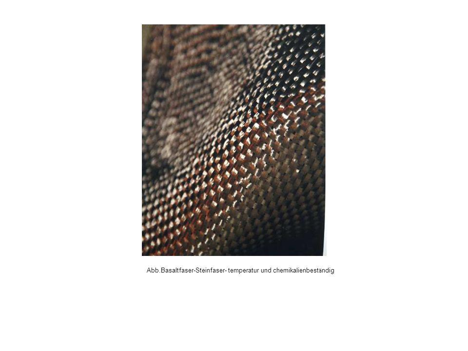 Abb.Basaltfaser-Steinfaser- temperatur und chemikalienbest ä ndig