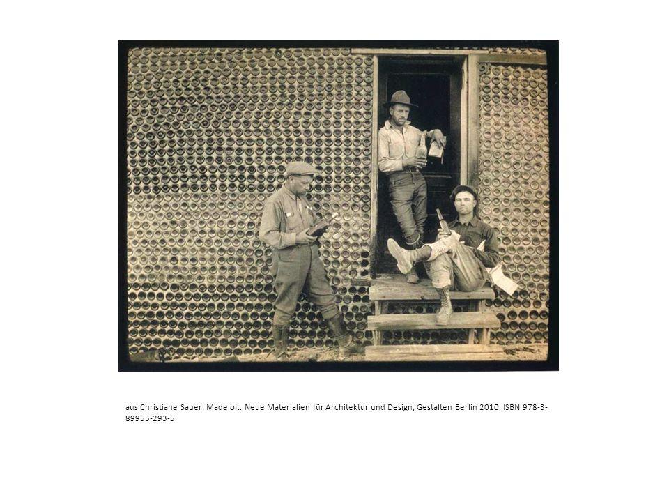 aus Christiane Sauer, Made of.. Neue Materialien für Architektur und Design, Gestalten Berlin 2010, ISBN 978-3- 89955-293-5
