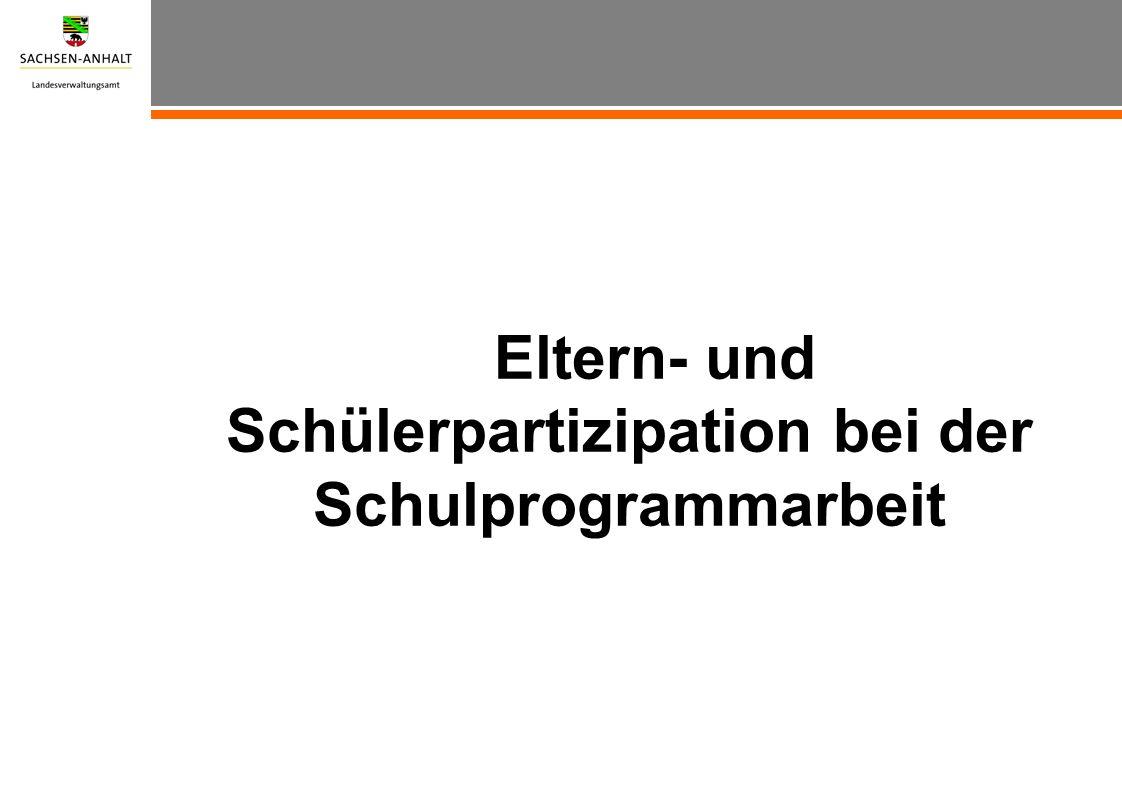 1.Die gesetzlichen Grundlagen: Schulgesetz des Landes Sachsen-Anhalt Zweiter Teil Schulverfassung § 24 Selbstständigkeit und Eigenverantwortung der Schule (4) Jede Schule gibt sich ein Schulprogramm.