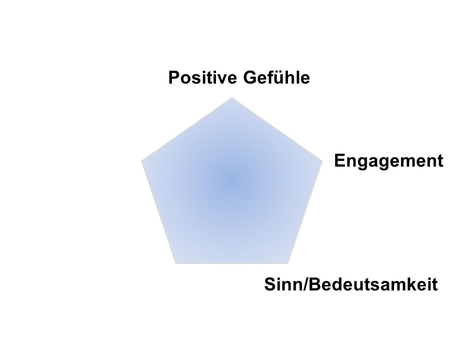 Positive Gefühle Engagement Sinn/Bedeutsamkeit