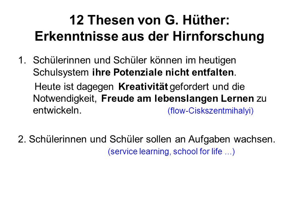 12 Thesen von G.