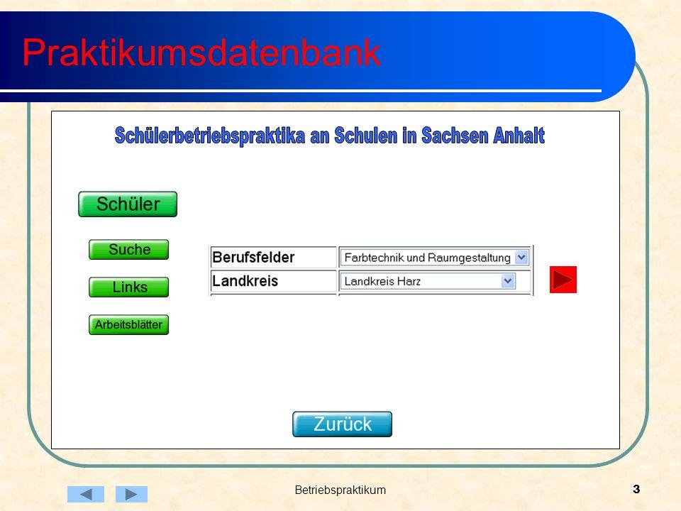 Betriebspraktikum3 Praktikumsdatenbank