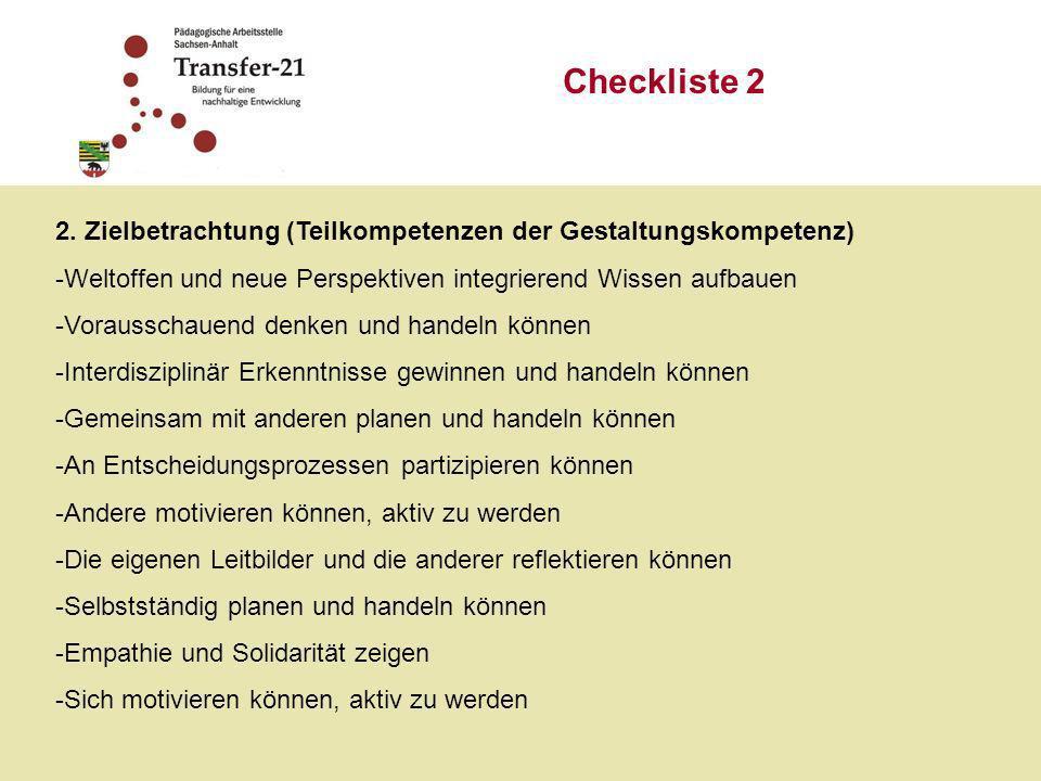 Checkliste 3 3.
