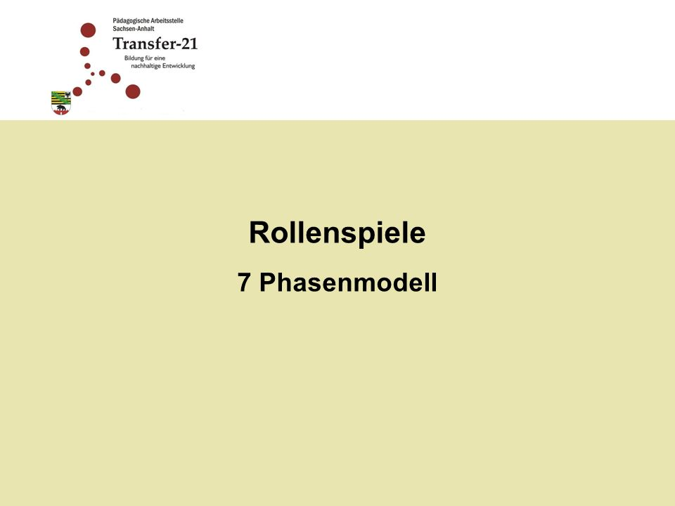 Rollenspiele 7 Phasenmodell