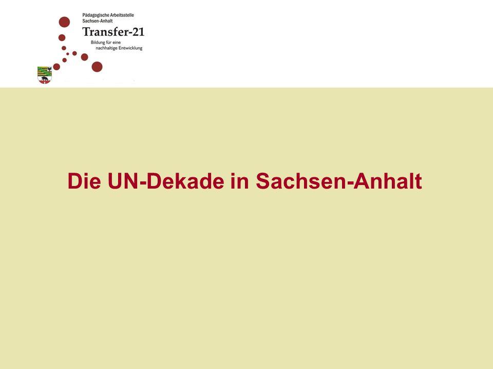 Die UN-Dekade in Sachsen-Anhalt