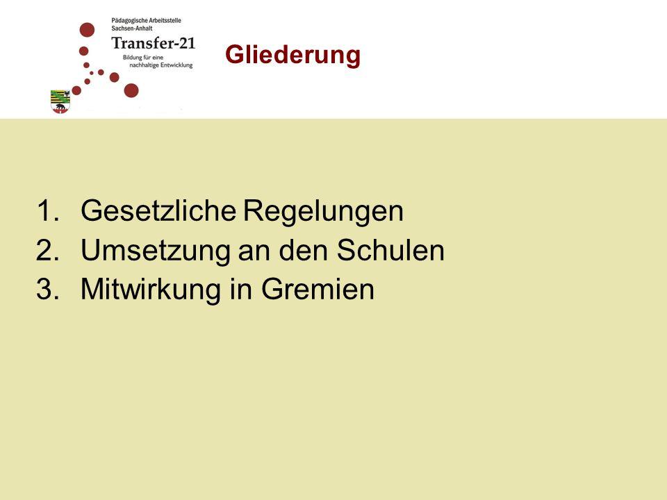 Grundlage: Beschlussvorlage der Deutschen UNESCO- Kommission und KMK vom 15.06.2007 Landtagsbeschluss vom 25.01.2008 zum Konzept zur Bildung für nachhaltige Entwicklung in vorschulischen Einrichtungen, allgemeinbildenden und berufsbildenden Schulen sowie wissenschaftlichen Einrichtungen im Rahmen des Aktionsplans der UN-Dekade Bildung für nachhaltige Entwicklung Konzeptentwicklung erfolgte ressortübergreifend und wird seit 19.01.2009 in den Ausschüssen diskutiert Erarbeitung eines Programms zur Umsetzung des Konzepts 1.