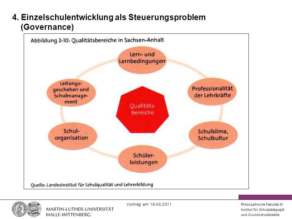 Vortrag am 19.03.2011 Philosophische Fakultät III Institut für Schulpädagogik und Grundschuldidaktik 4.