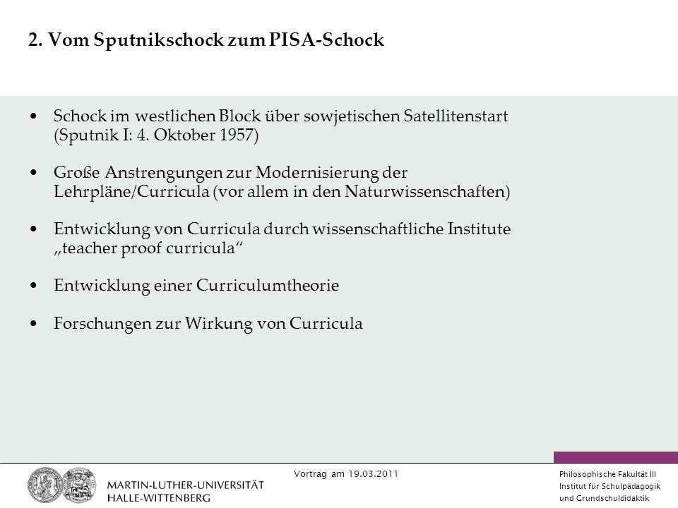 Vortrag am 19.03.2011 Philosophische Fakultät III Institut für Schulpädagogik und Grundschuldidaktik 2.