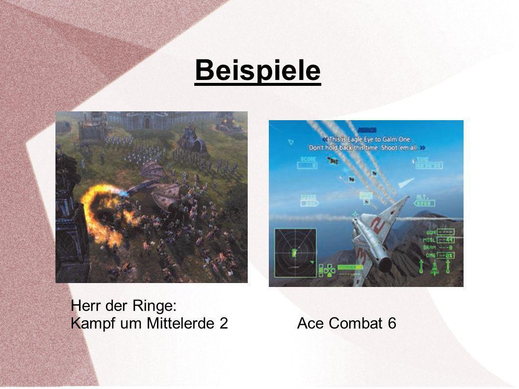 Beispiele Herr der Ringe: Kampf um Mittelerde 2 Ace Combat 6