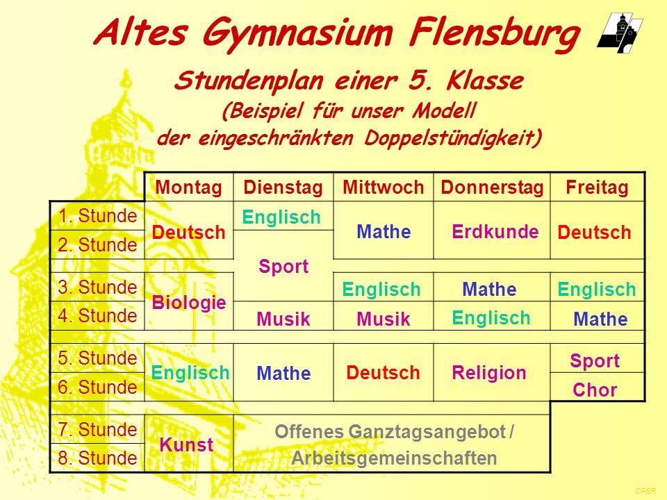 MontagDienstagMittwochDonnerstagFreitag 1. Stunde 2. Stunde 3. Stunde 4. Stunde 5. Stunde 6. Stunde 7. Stunde 8. Stunde Altes Gymnasium Flensburg Offe