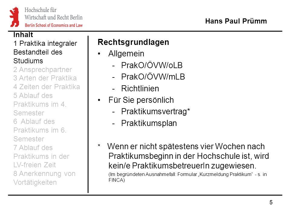 26 Struktur des Praktikumsberichts (2) Tätigkeitsbeschreibung –Zeiten –Tätigkeiten –Schwerpunkte (!) Beschreibung der Praktikumsziele Reflektierender Teil incl.