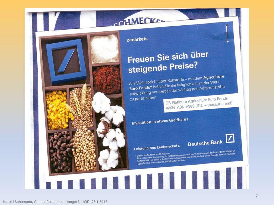 Harald Schumann, Geschäfte mit dem Hunger?, HWR, 26.1.2012 18
