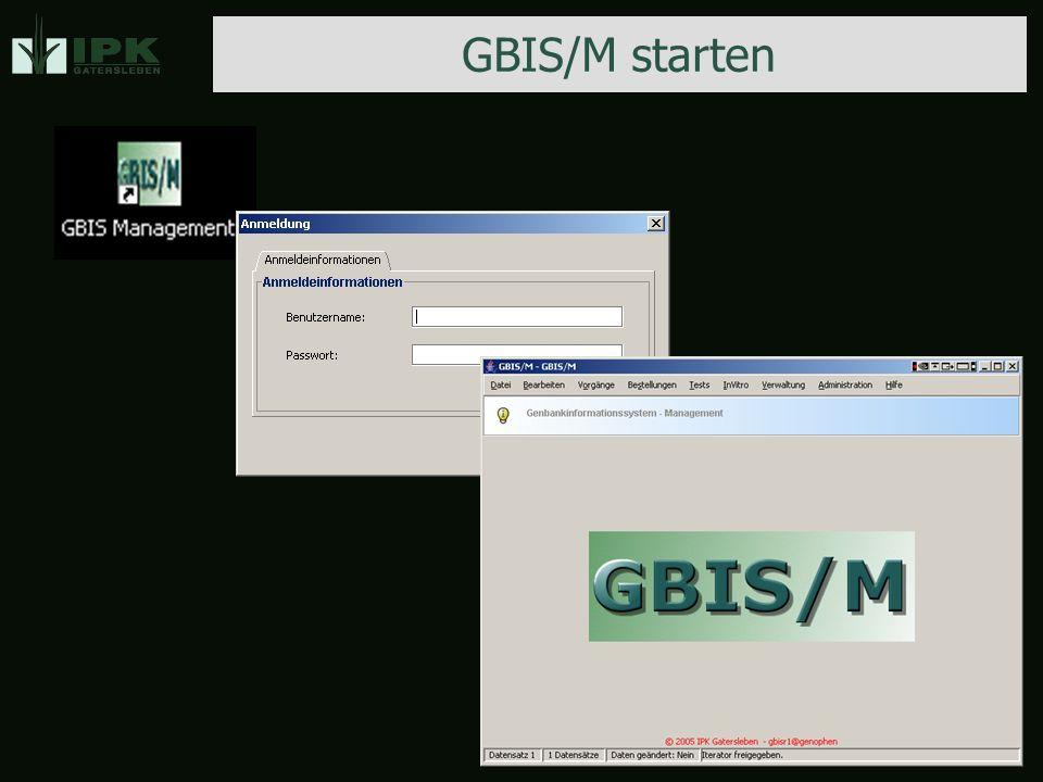 GBIS/M starten