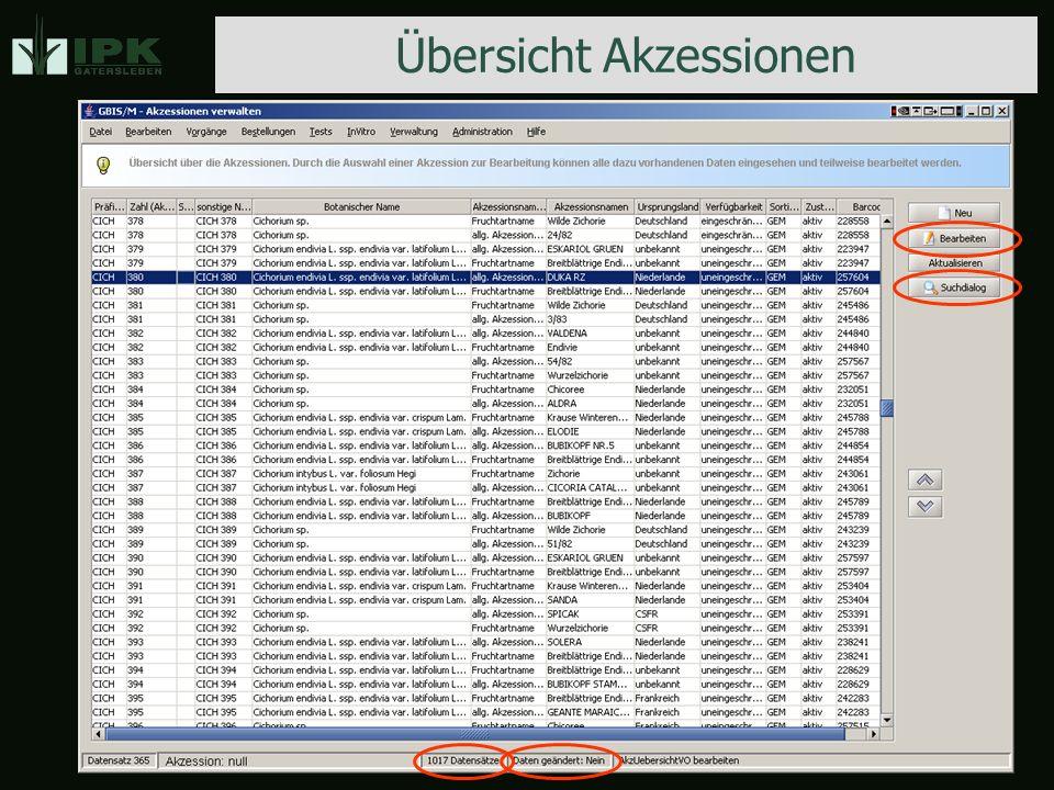 Akzessionsverwaltung Hauptdaten Fundort Historie Hauptdaten Fundort Historie