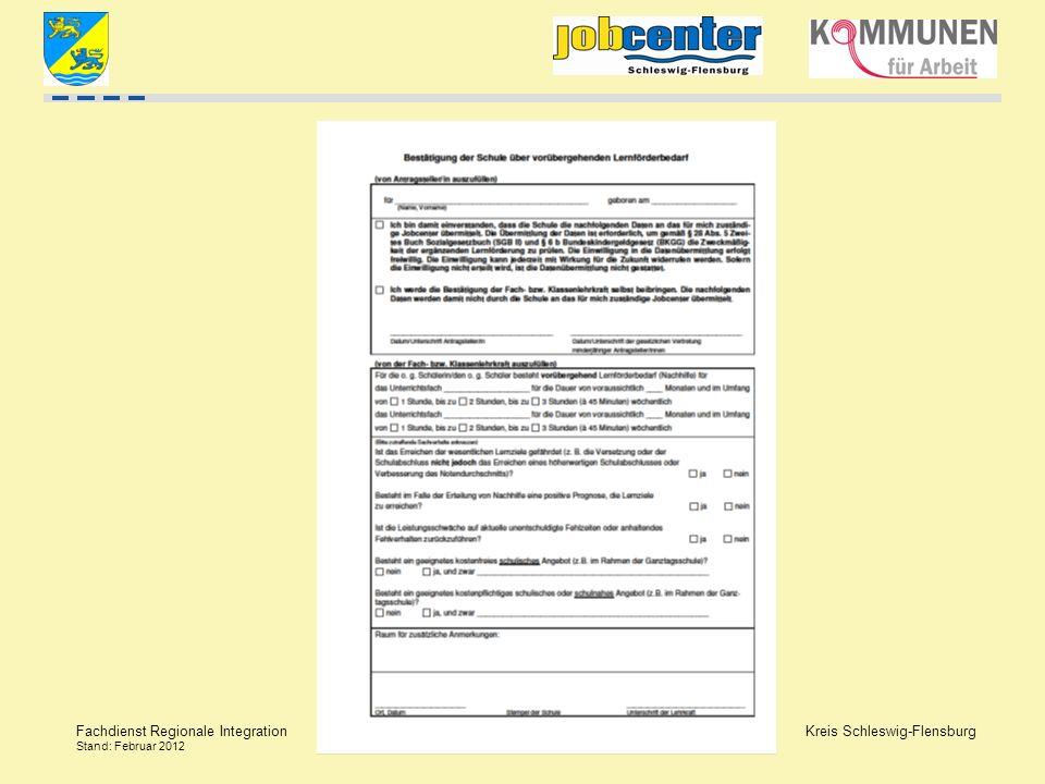 Kreis Schleswig-Flensburg Fachdienst Regionale Integration Stand: Februar 2012
