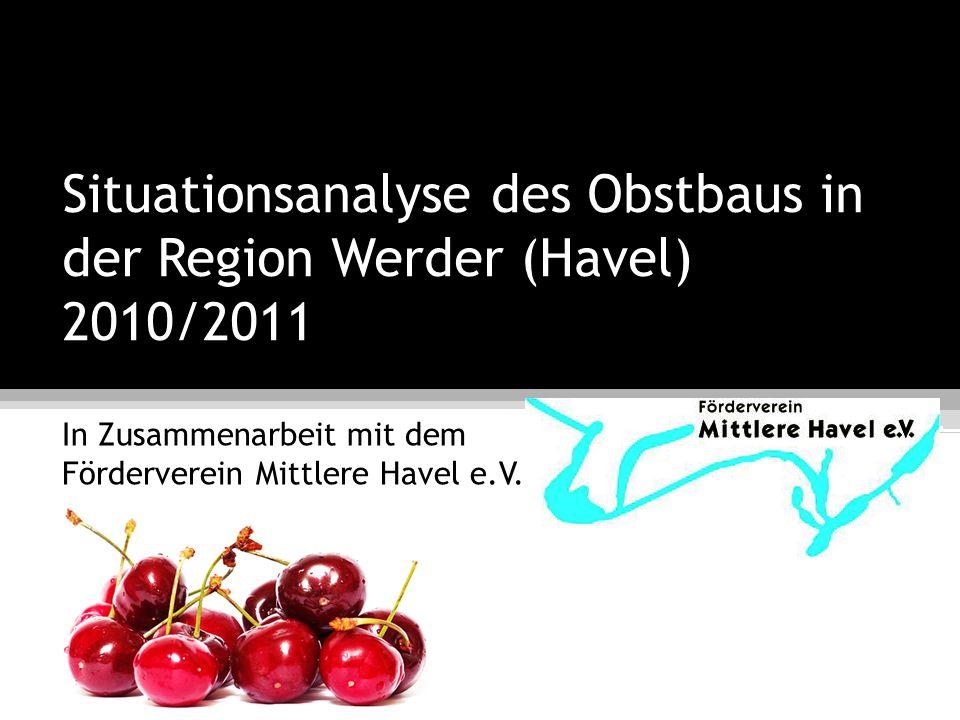 Projektgruppe Obstbau im Havelland Situationsanalyse des Obstbaus in der Region Werder (Havel) 2010/2011 7.