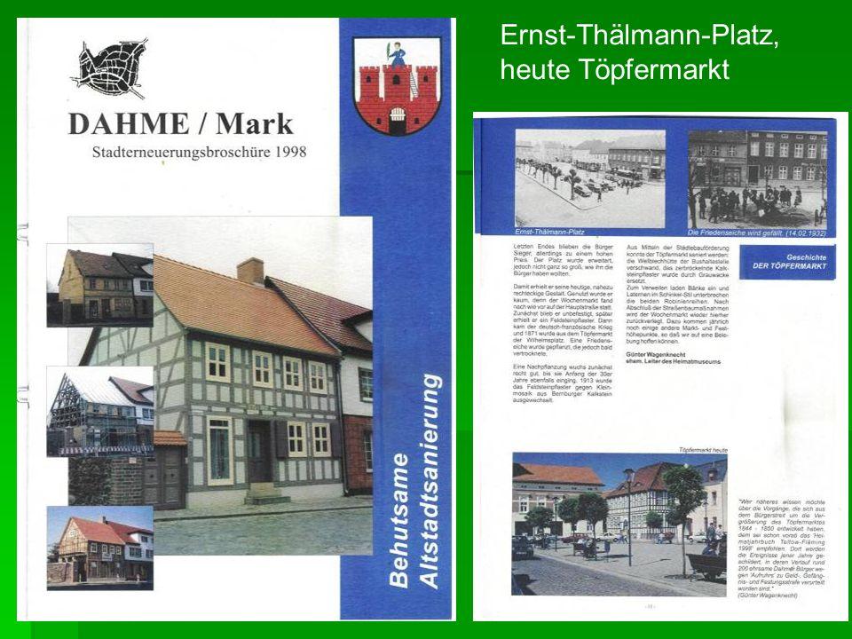 Ernst-Thälmann-Platz, heute Töpfermarkt