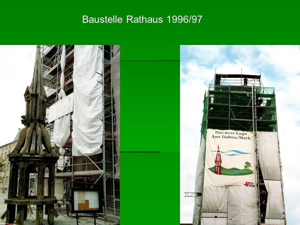 Baustelle Rathaus 1996/97