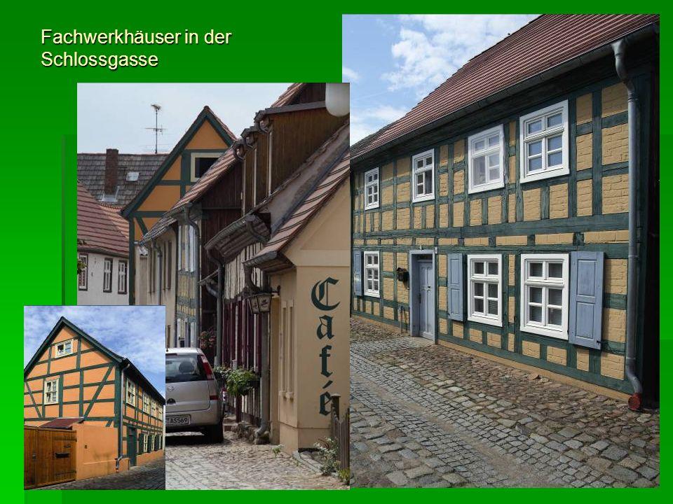 Fachwerkhäuser in der Schlossgasse