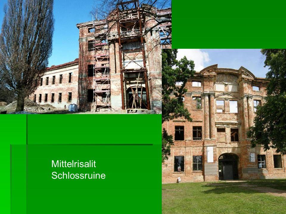 Mittelrisalit Schlossruine