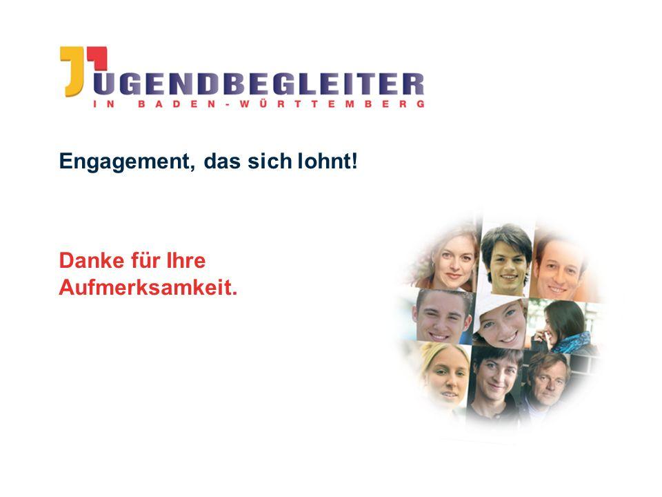 © Jugendstiftung Baden-Württemberg Wolfgang Antes Engagement, das sich lohnt! Danke für Ihre Aufmerksamkeit.