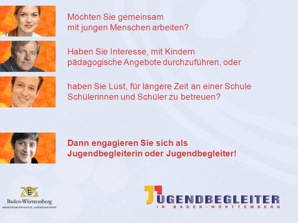© Jugendstiftung Baden-Württemberg Wolfgang Antes Das Programm Durch das Jugendbegleiter-Programm des Landes Baden-Württemberg werden seit 2006 an inzwischen 1.500 Schulen außerunterrichtliche Bildungs- und Betreuungsangebote in umfassender und vielfältiger Weise realisiert.