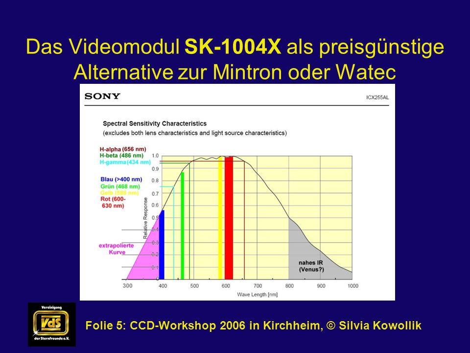 Das Videomodul SK-1004X als preisgünstige Alternative zur Mintron oder Watec Folie 5: CCD-Workshop 2006 in Kirchheim, © Silvia Kowollik