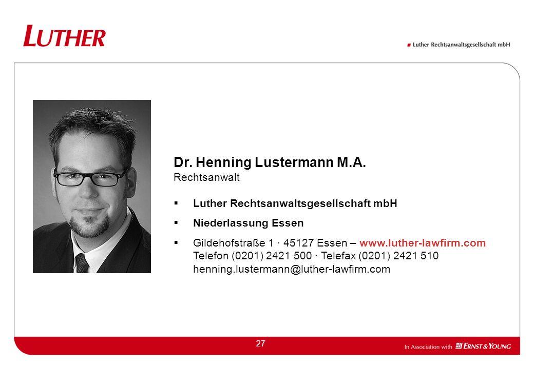 27 Dr.Henning Lustermann M.A.