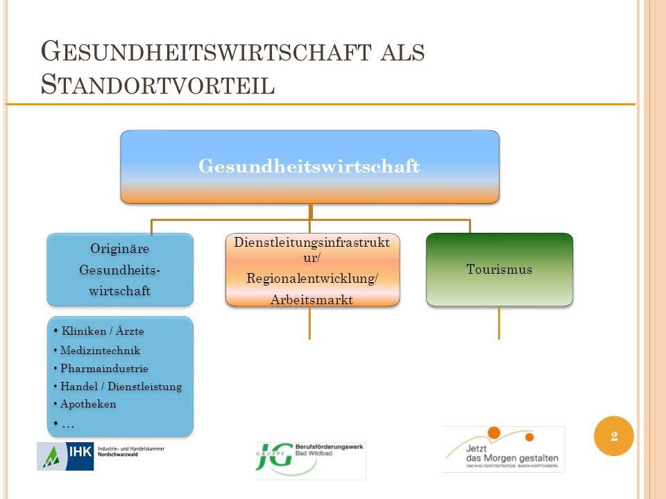 G ESUNDHEITSWIRTSCHAFT ALS S TANDORTVORTEIL Dienstleistungsinfrastruktur / Regionale Entwicklung / Arbeitsmarkt Gesundheits- Infrastruktur / med.