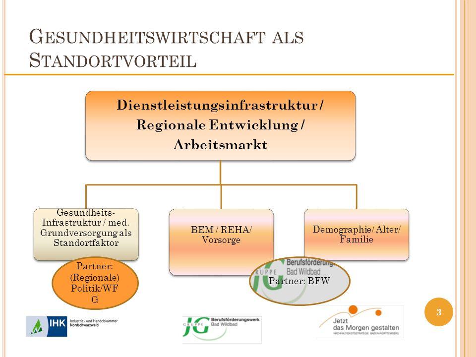 G ESUNDHEITSWIRTSCHAFT ALS S TANDORTVORTEIL Dienstleistungsinfrastruktur / Regionale Entwicklung / Arbeitsmarkt Gesundheits- Infrastruktur / med. Grun