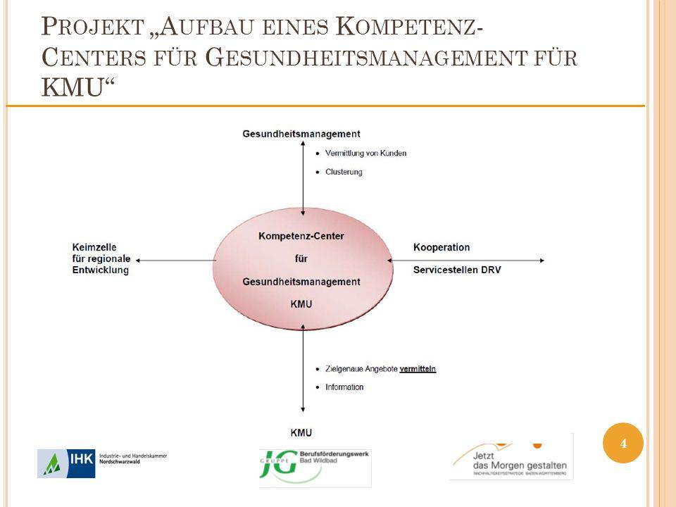 P ROJEKT A UFBAU EINES K OMPETENZ - C ENTERS FÜR G ESUNDHEITSMANAGEMENT FÜR KMU 4