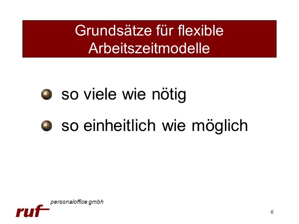 6 Grundsätze für flexible Arbeitszeitmodelle personaloffice gmbh so viele wie nötig so einheitlich wie möglich
